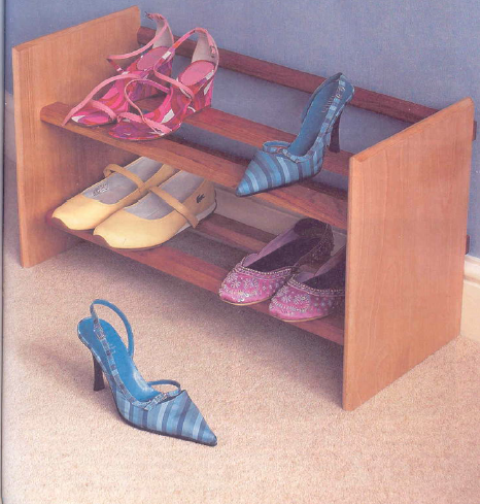 Wooden rack for shoes